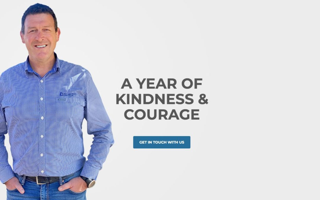 A year of kindness & courage